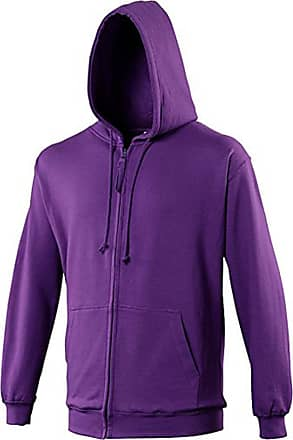 Awdis Zoodie Full Zip Hoodie Covered Main Zip with Self Fabric 80% Cotton 20% Polyester (XX-Large, Purple)