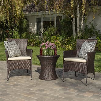 BEST SELLING HOME Outdoor Verajao Wicker 3 Piece Patio Chat Set - 299425