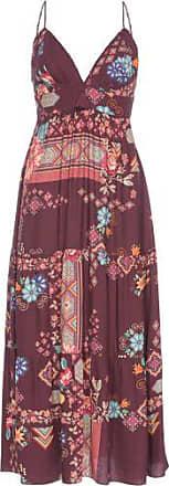 Dress To Vestido Midi Estampa Lima Dress To - Vinho