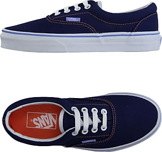 vans chaussures bleu et marron