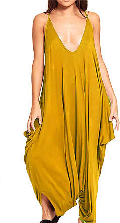 Ganzk/örperanzug seitliche Taschen Rundhalsausschnitt Re Tech UK Damen-Jumpsuit elastischer Taillenbund /ärmellos figurbetont