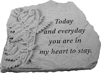 Kay Berry Today and Everyday Memorial Stone - Fern Design - 07036