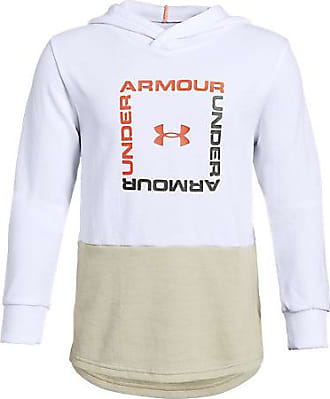 Under Armour Boys Unstoppable Move Double Knit Hoodie, White/Brown