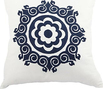 A & B Home Embroidered Medallion Throw Pillow - TAV38480