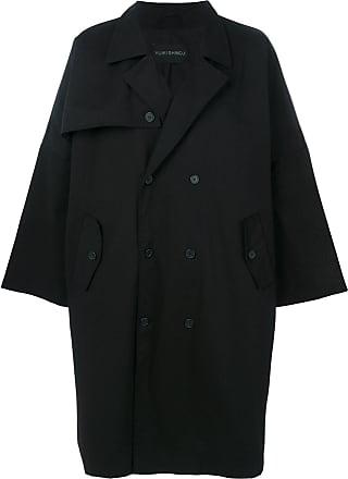 Yuiki Shimoji Trench coat oversized - Preto