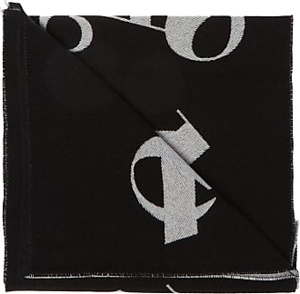 Palm Angels Logo-embroidered Scarf Mens Black