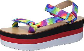 Yoki Womens ZOEY-07 Flat Sandal, Tie Dye, 5.5 UK