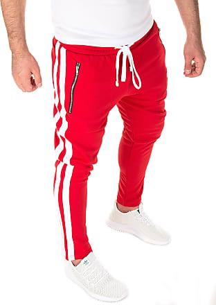 Yazubi Trousers Men Sport Retro Track Pant Man Sweatpants Rayne Mens Slim Fit Leg, Red/White (0201), XS