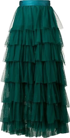 Forte_Forte tiered tulle skirt - Green