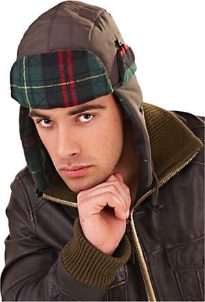 Lora Dora Mens Winter Hats Trapper HAT Gents Faux Fur Warm Tartan Khaki 1 Size
