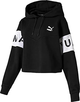 Puma Damen Evo Full Zip Hoody – Baumwolle Schwarz, 2 X