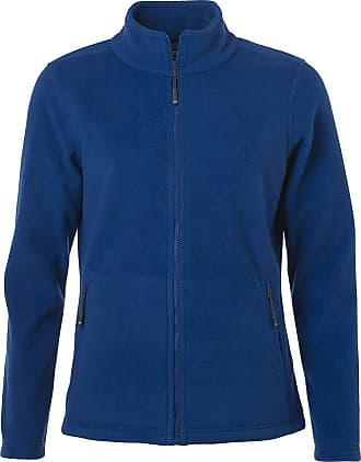 James & Nicholson Ladies Fleece Jacket with Stand-up Collar in Classic Design (XL, Royal)