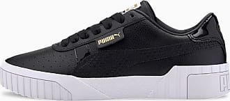 Puma Cali Snake Womens Trainers, Black/Gold, size 3.5, Shoes