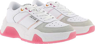 Versace Jeans Couture Sneakers - Chunky Leather Suede Sneakers White - white - Sneakers for ladies