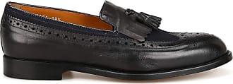 Doucal's Hamilton Leather Fringe Brogue Loafers, 36.5 Black