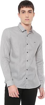 Calvin Klein Jeans Camisa Calvin Klein Jeans Slim Listrada Branca/Preta