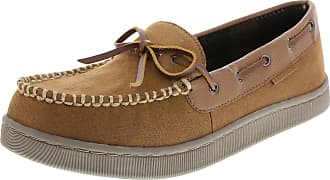 a8e35b3a9694 Airwalk Mens Tan Mens Mason Moccasin Slipper 13 Regular