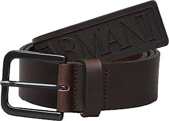 Emporio Armani Mens Y45199/YDD5V Maxi Logo Belt in Brown