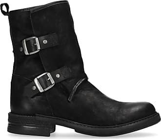 e48ebe3d418c90 Sacha Kurze schwarze Stiefel mit Schnallen (36