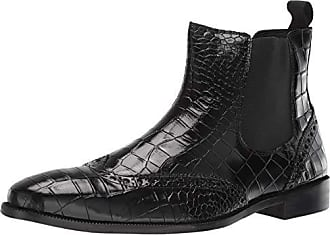 7b06bb74d Stacy Adams Mens Frontera Croc Wingtip Chelsea Ankle Boot, Black, 7.5 M US