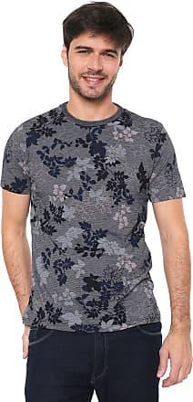 Malwee Camiseta Malwee Floral Azul-marinho