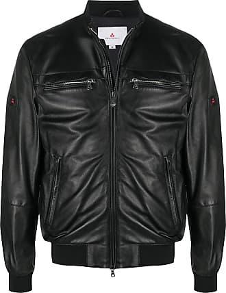 Peuterey zip-up leather jacket - Black