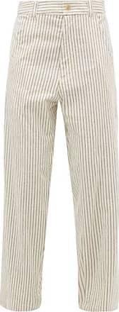Haider Ackermann Chanda Striped Cotton Trousers - Womens - White Multi