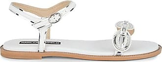 Karl Lagerfeld Gage Metallic Buckle Sandals