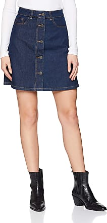 Noisy May Womens Nmsunny Shortdnm Skater Skirt Gu027 Noos, Blue (Dark Blue Denim), 16 (Size: X-Large)