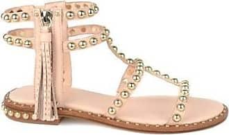 Ash Power Ziegenmetall Sandalen mit goldenen Nieten - 37