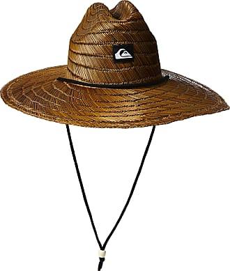 Quiksilver Mens Pierside Straw Sun Hat, Dark Brown, XXL