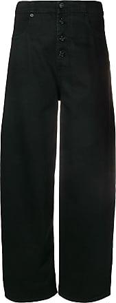 Maison Margiela Calça de alfaiataria com cintura alta - Preto