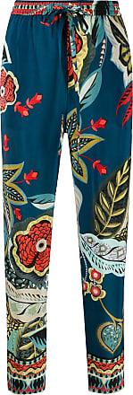 Red Valentino Calça cropped com estampa gráfica - Azul