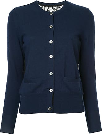 Onefifteen lace panel buttoned cardigan - Blue