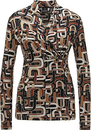 Madeleine Shirt in hellbraun MADELEINE Gr 34, berber/multicolor für Damen. Elasthan, Viskose. Waschbar