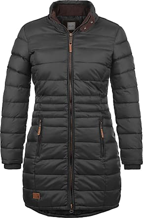 Blend Carlotta Womens Quilted Coat Parka Outdoor Jacket with Funnel Neck, Size:XS, Colour:Phantom Grey (70010)