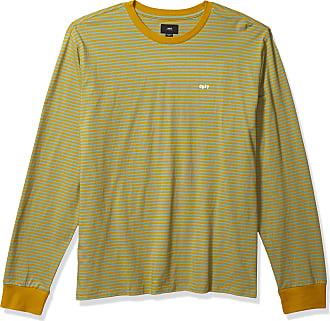 Obey Mens APEX LS Knit TEE T-Shirt, Golden Palm Multi, Medium