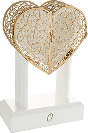 Cathy's Concepts 3937-O Personalized Heart Vow Unity Keepsake, White/Gold
