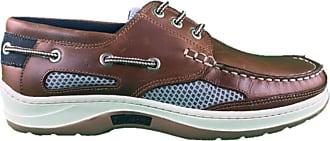 Quayside Sydney Mens Deck Shoe (Walnut, 13)