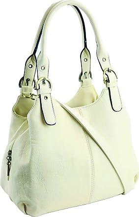 Craze London New Womens Multiple Pockets Medium Size Long Strap Shoulder Bag,bag with strap womens and lady bags long shoulder (Beige)