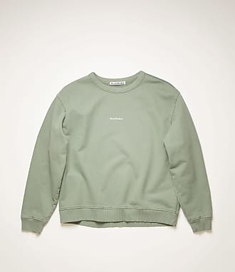 Acne Studios FN-WN-SWEA000130 Dusty green Logo-print sweatshirt