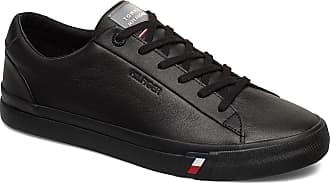 Tommy Hilfiger Corporate Leather Sneaker Låga Sneakers Svart Tommy Hilfiger