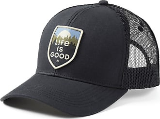 Life is good Scenic Crest Hard Mesh Back Cap OS Night Black
