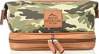 Buxton Mens Expedition Ii Huntington Gear Bottom Zip Canvas Travel Kit, Camo