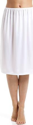 Camille White 24 Half Length Cling Resistant Under Skirt Slip 14