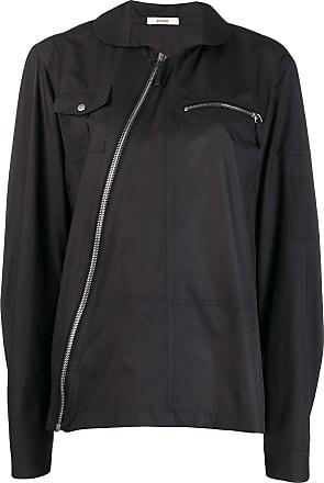 Zilver Camisa com zíper diagonal - Preto