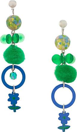 Amir Slama Pom Pom earrings - Green