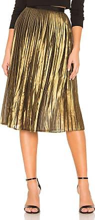 BB Dakota Foil The Trouble Skirt in Metallic Gold