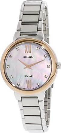 Seiko Mens SUP382 Silver Stainless-Steel Japanese Quartz Fashion Watch