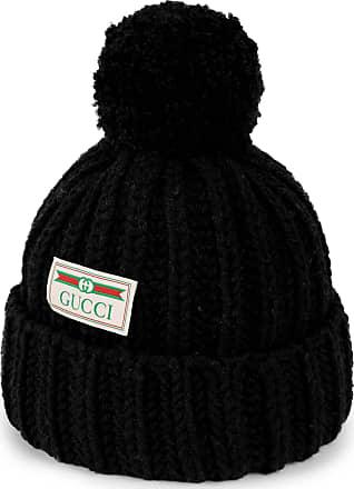 Gucci Bonnet en laine avec étiquette jacquard Gucci